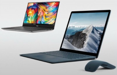 Microsoft Surface 1000 USD và Dell XPS 13